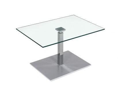 Couchtisch Beistelltisch Glas und Metall 60x90 cm