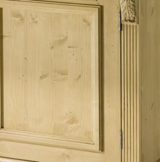 Schrank Kleiderschrank Fichte massiv 2-trg Landhausstil lackiert mediterran - Vorschau 3