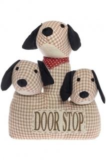 Türstopper 3-köpfiger Hund Fluffy Stoff&Polyester Mehrfarbig