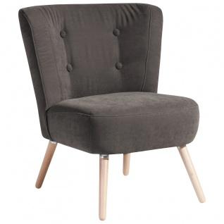 Neele Sessel Veloursstoff Stein Buche Natur