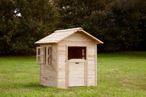 Spielhaus Spielhütte Holzspielhaus für Kinder TÜV geprüft Zedernholz stabil - Vorschau 2