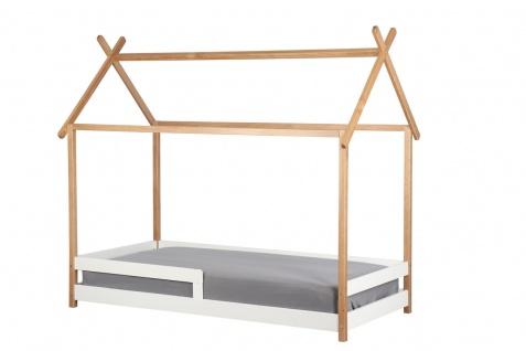 Kinderbett Haus Bett 90x200 Kiefer Weiß