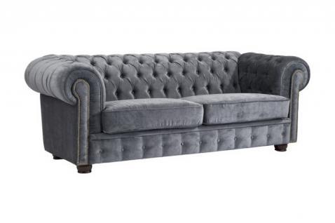 Sofa Couch Textilsofa Wohnzimmer Samt grau lila rot Samtvelour weich barock