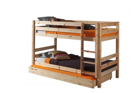 Etagenbett mit Bettschublade Pino Kiefer massiv 90 x 200 cm