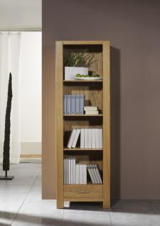 Bücherregal Regal Wohnzimmerschrank Hochschrank Eiche massiv geölt natur