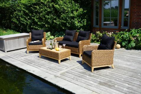 Lounge-Set Loungegruppe Gartenmöbel Relaxgruppe 4-teilig Polyrattan Garnitur
