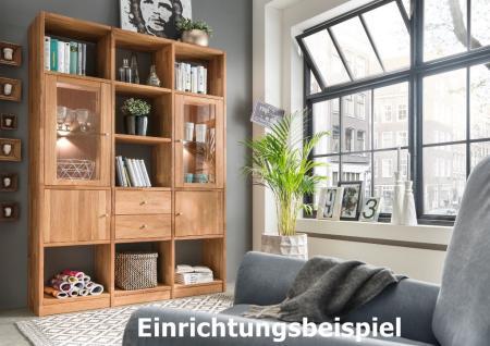 Regal Bücherregal Standregal 12 Fächer Büroregal Wildeiche massiv Aufbewahrung - Vorschau 2