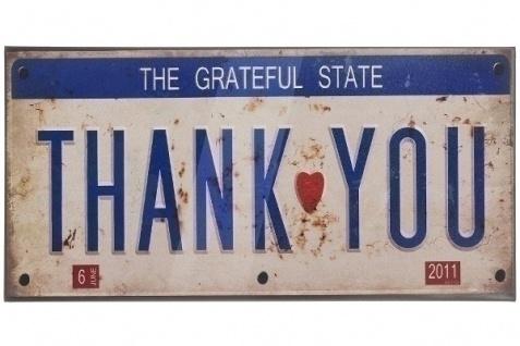 Metallschild Grateful State Mehrfarbig