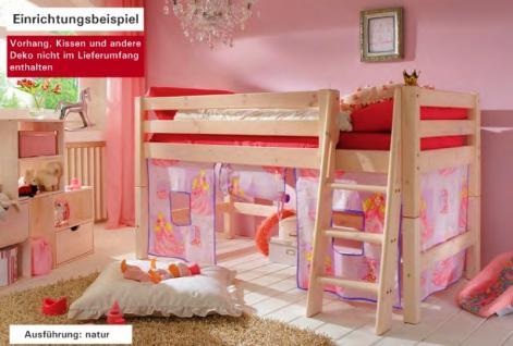 Hochbett Kinderbett Bett Einzelbett Kiefer massiv halbhoch Kinderzimmer