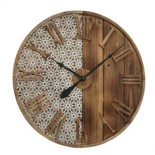 Wanduhr Abbey Uhr 70cm Römische Ziffern Metall / Holz