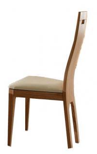 Stuhl Set Stühle Sitz Polstersitz Esszimmerstuhl Eiche massiv geölt edel