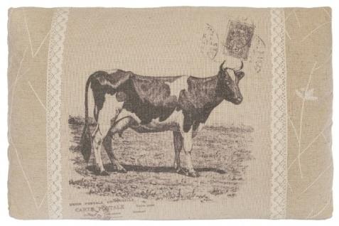 Kissen Cow Rechteckig Baumwolle&Polyester Beige