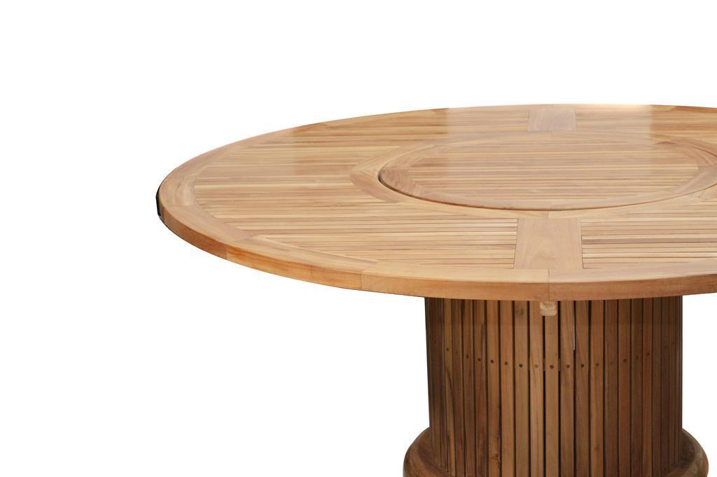 gartentisch tisch rund 200 cm garten dining tisch esstisch drehteller teak fsc kaufen bei saku. Black Bedroom Furniture Sets. Home Design Ideas