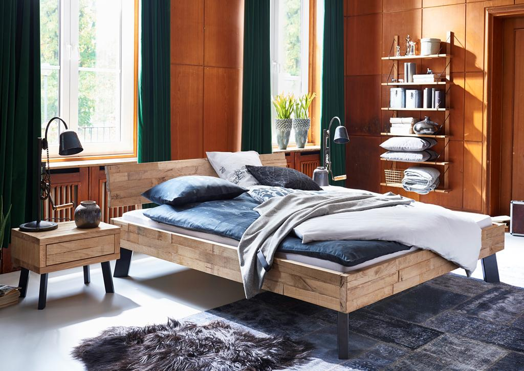 massivholzbett bett doppelbett holzbett bettgestell eiche massiv versch gr en kaufen bei. Black Bedroom Furniture Sets. Home Design Ideas