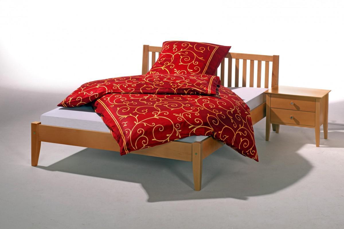 Bett einzelbett doppelbett buche massiv natur lackiert for Doppelbett jugendzimmer