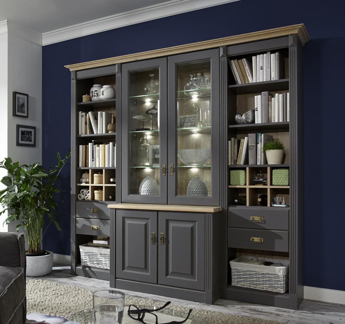 wohnwand massivholz weis. Black Bedroom Furniture Sets. Home Design Ideas