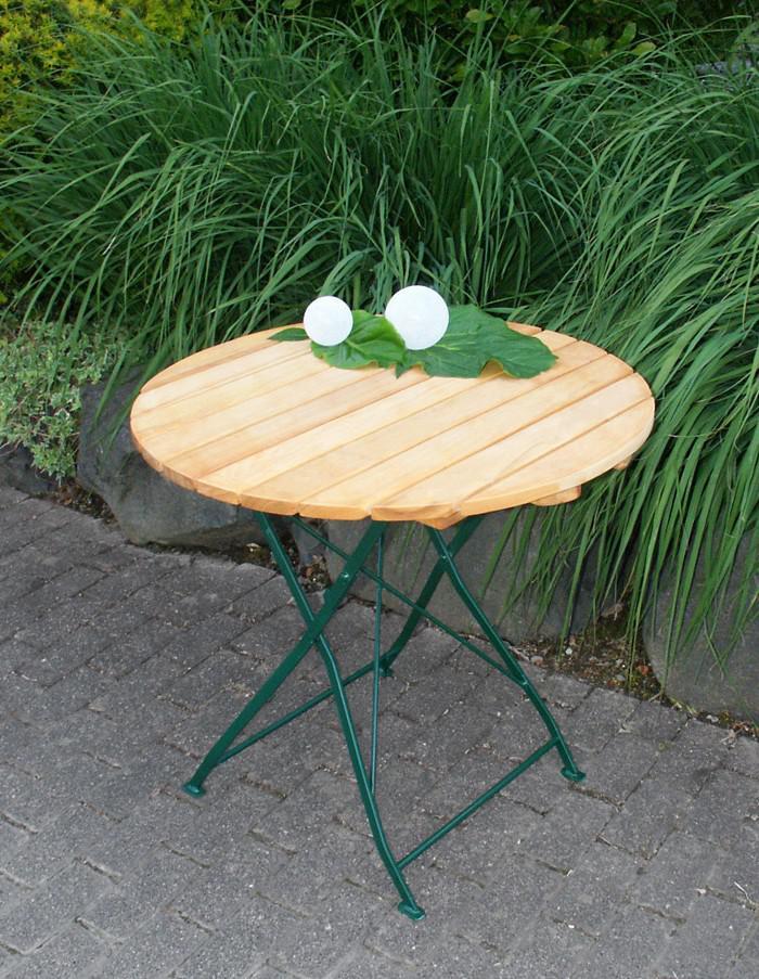 Cool Gartentisch Klapptisch Tisch Rund Gartenmbel Biergarten Robinie Mit  Stahl Grn With Garten Klapptisch Rund