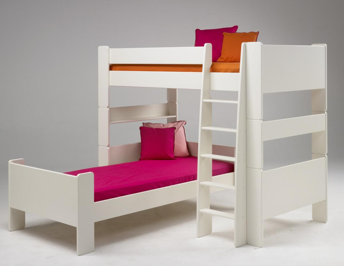 Etagenbett Steens For Kids : Kinderbett kombi etagenbett hochbett einzelbett kinderzimmer mdf