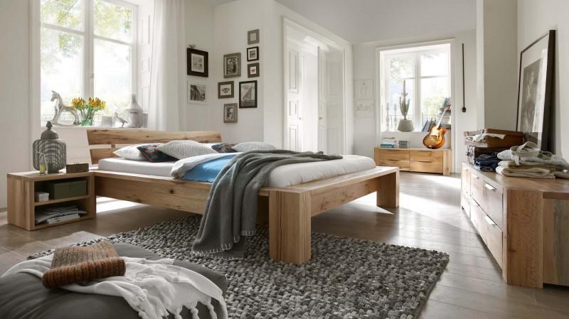 Schlafzimmer Kompletteinrichtung Bett Kommoden Eiche Massiv Rustikal