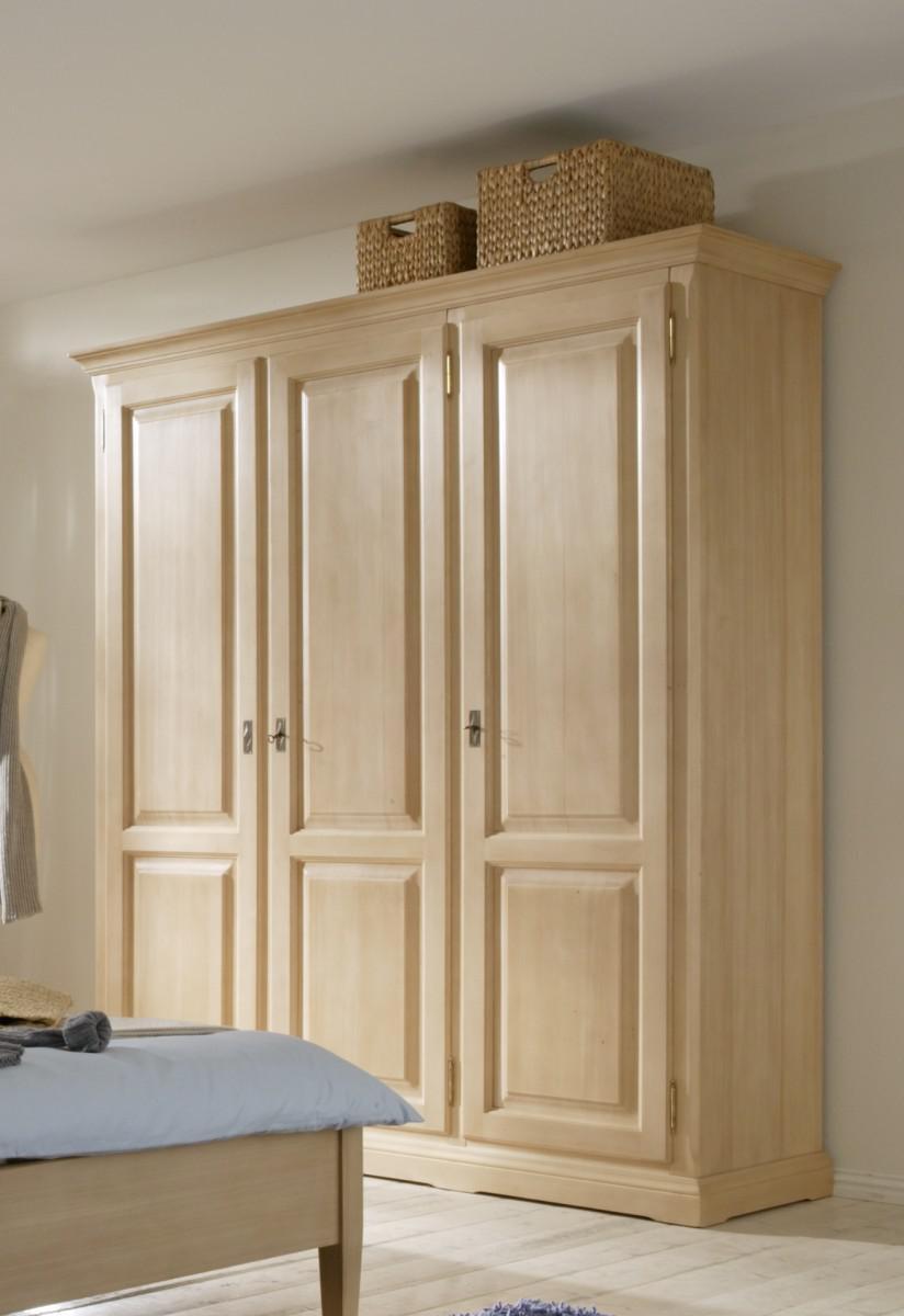 schrank kleiderschrank 3 t rig schlafzimmer fichte massiv gewachst kaufen bei saku system. Black Bedroom Furniture Sets. Home Design Ideas