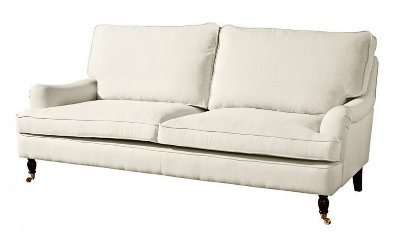 Couch Sofa Textilsofa Polstersofa 3 Sitzig Klavierfusse Weich Bequem