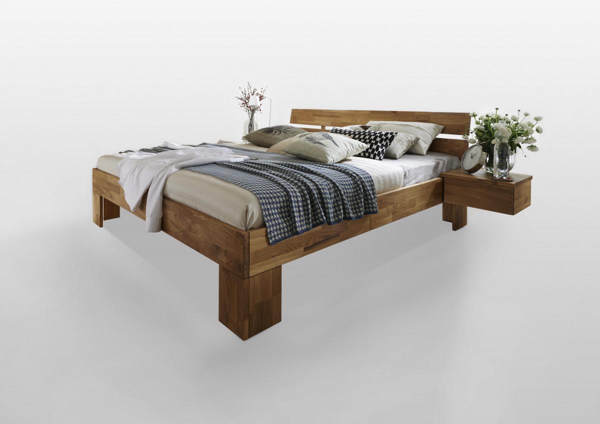 Bett Doppelbett Einzelbett Jugendbett Gastebett Wildeiche Massiv