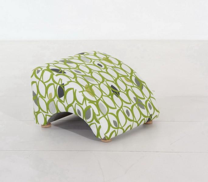 sessel liegesessel relaxsessel mit hocker retro gr n muster blatt baumwolle kaufen bei saku. Black Bedroom Furniture Sets. Home Design Ideas