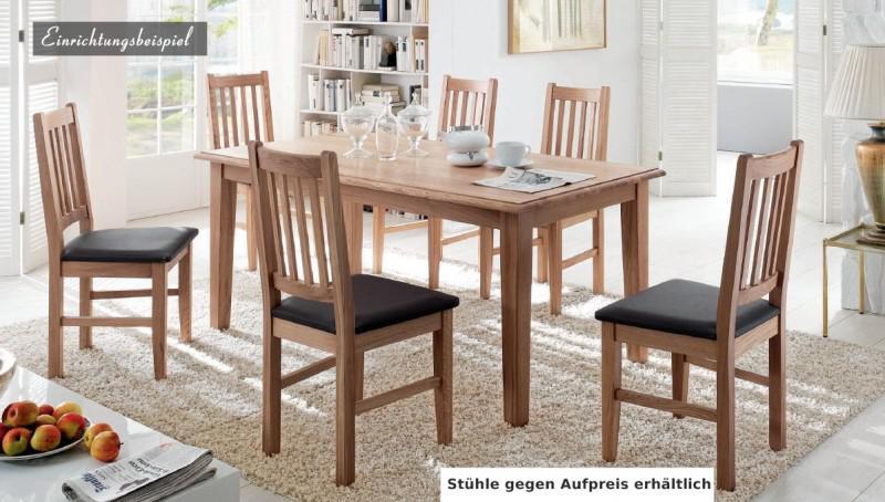 Esstisch Tisch Esszimmertisch Küchentisch Eiche Massiv Geölt Natur 1 ...