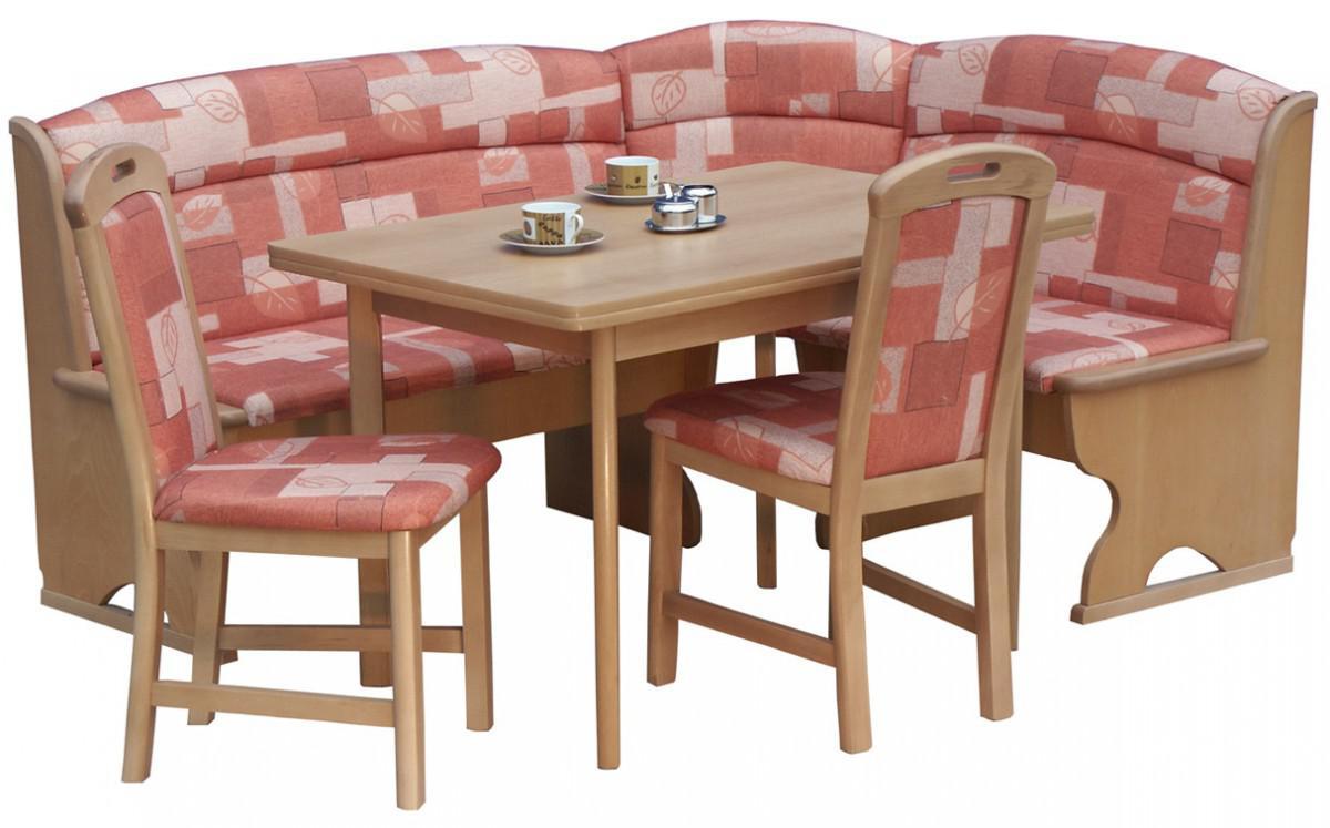 Eckbankgruppe Polly Buche terracotta Tisch 2x Stuhl Bank