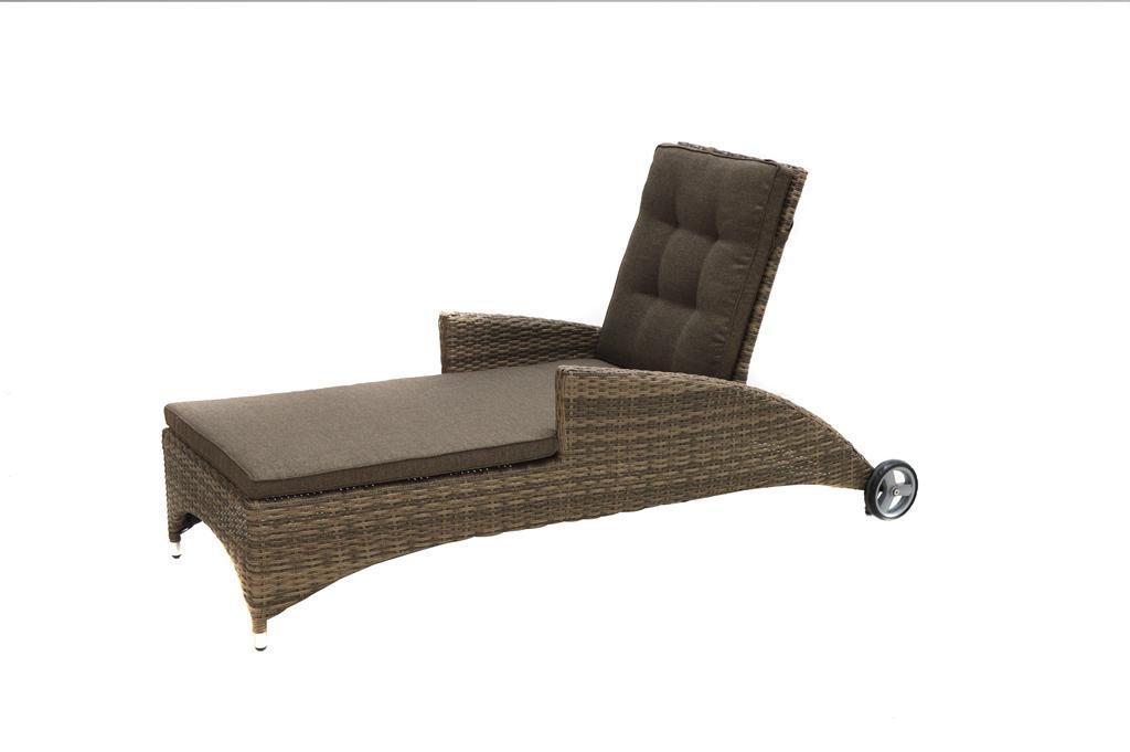 sonnenliege gartenliege mit polster roll liege loungeliege gartenm bel geflecht kaufen bei. Black Bedroom Furniture Sets. Home Design Ideas
