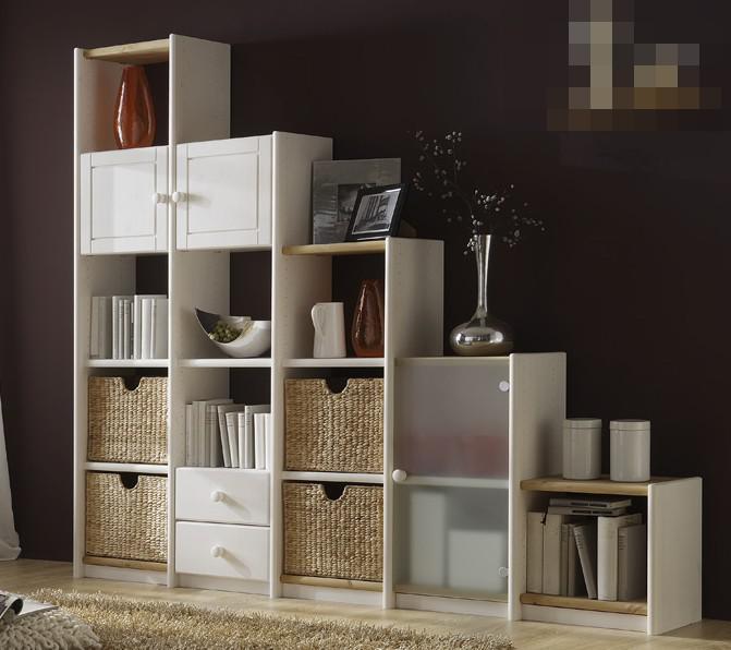 wohnwand wohnregal regalwand regal schr g anbau kiefer wei massiv gelaugt ge lt kaufen bei. Black Bedroom Furniture Sets. Home Design Ideas