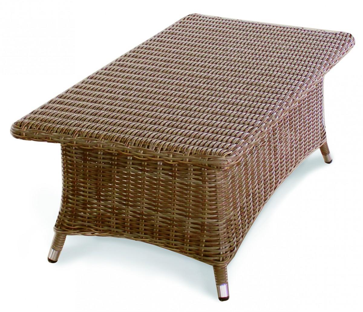 Couchtisch ablagetisch tisch beistelltisch ablage geflecht - Garten lounge tisch ...
