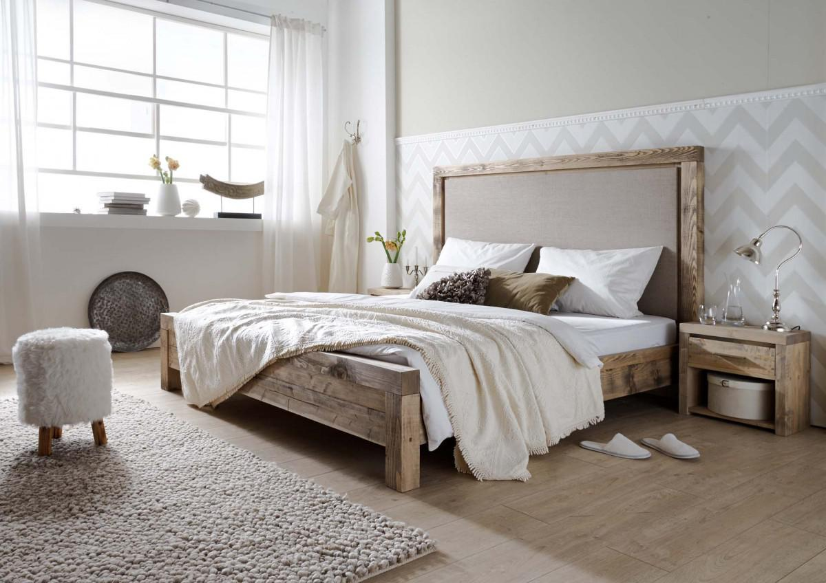 bett fichte kiefer massiv alt grau natur gewachst 100 leinen kopfteil rustikal kaufen bei. Black Bedroom Furniture Sets. Home Design Ideas
