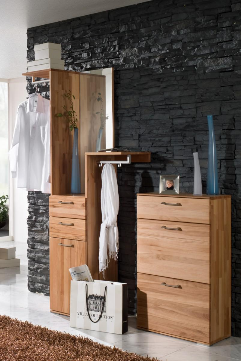 garderobenset garderobe kompaktgarderobe set flur diele kernbuche massiv ge lt kaufen bei saku. Black Bedroom Furniture Sets. Home Design Ideas