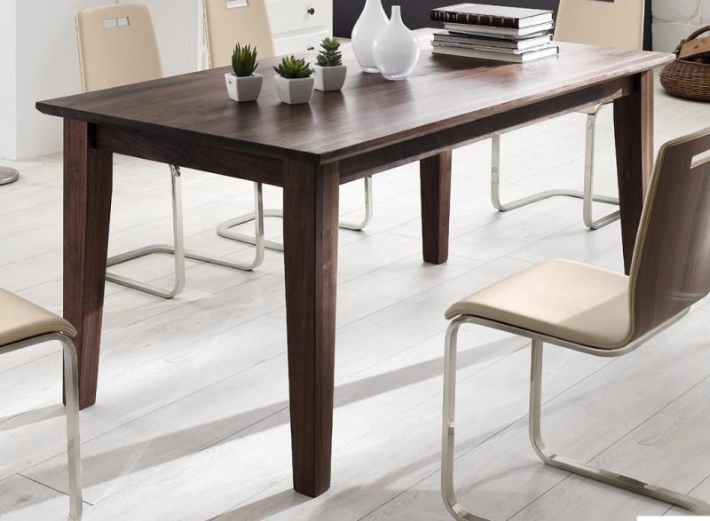 esstisch tisch konferenztisch esszimmer wohnzimmer b ro nussbaum massiv ge lt kaufen bei saku. Black Bedroom Furniture Sets. Home Design Ideas