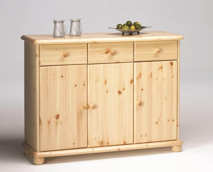 sideboard anrichte kommode kiefer massiv natur lackiert. Black Bedroom Furniture Sets. Home Design Ideas