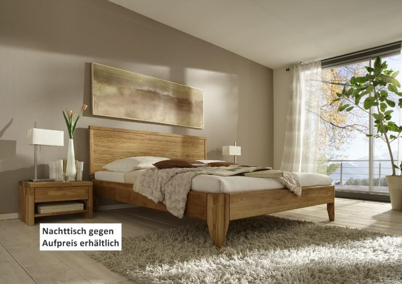 Bett Kopfteil Doppelbett Massive Eiche Uberlange Vollmassiv Rustikal