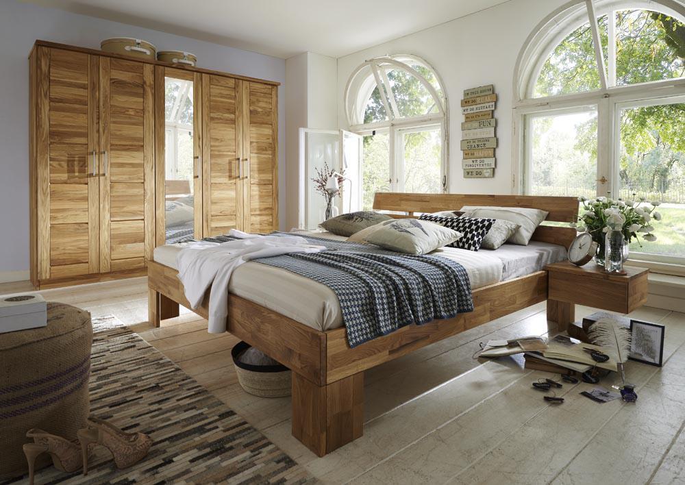Schlafzimmer Komplettset Schlafzimmerset 5 Teilig Wildeiche Bett