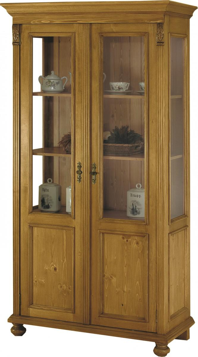 vitrine vitrinenschrank halbvitrine schrank fichte massiv antik landhaus 1880 kaufen bei saku. Black Bedroom Furniture Sets. Home Design Ideas