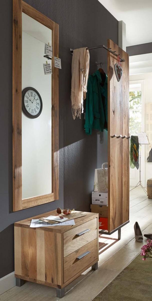 garderobe set paneel spiegel kommode flur balken eiche. Black Bedroom Furniture Sets. Home Design Ideas