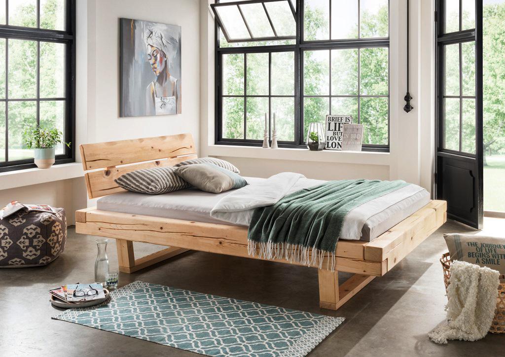 nice schlafzimmer holzbett #1: Größen 2 Bett Doppelbett Balkenbett Holzbett massiv Schlafzimmer Balken  versch.