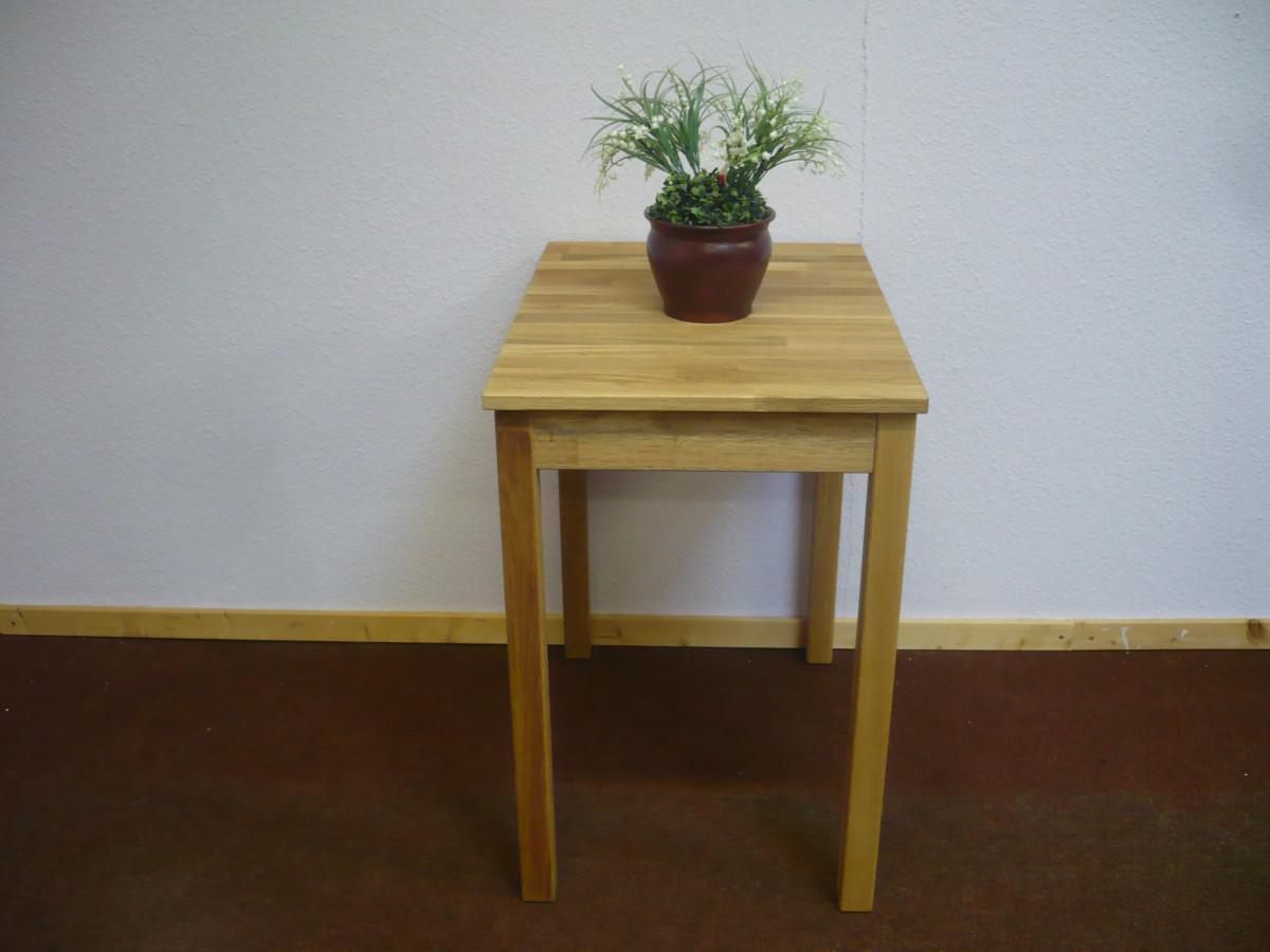 Esstisch Esszimmertisch Küchentisch Tisch 50x70 cm Wildeiche massiv ...