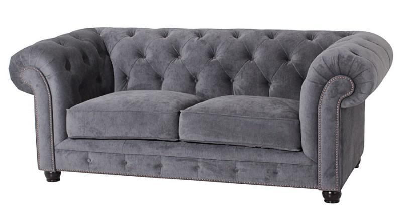 sofa couch 2 sitzig samt samtvelour buche grau schwarz. Black Bedroom Furniture Sets. Home Design Ideas