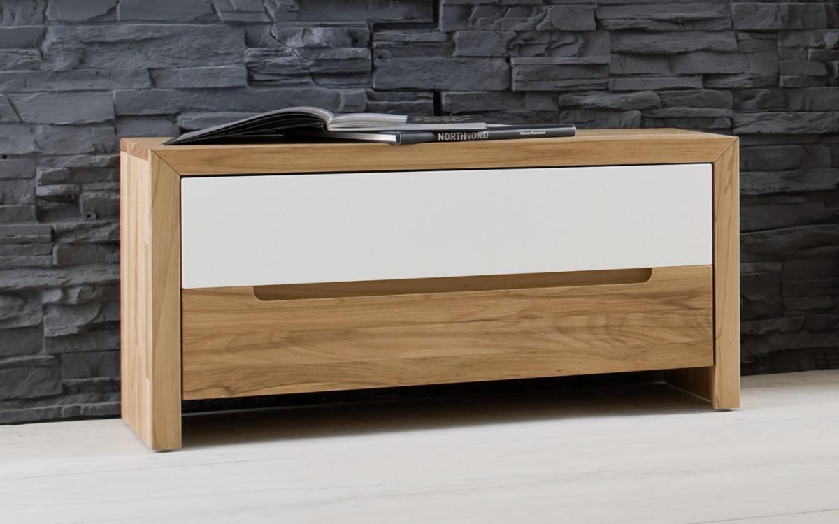 bank sitzbank mit klappe flur diele kernbuche massiv ge lt made in germany kaufen bei saku. Black Bedroom Furniture Sets. Home Design Ideas
