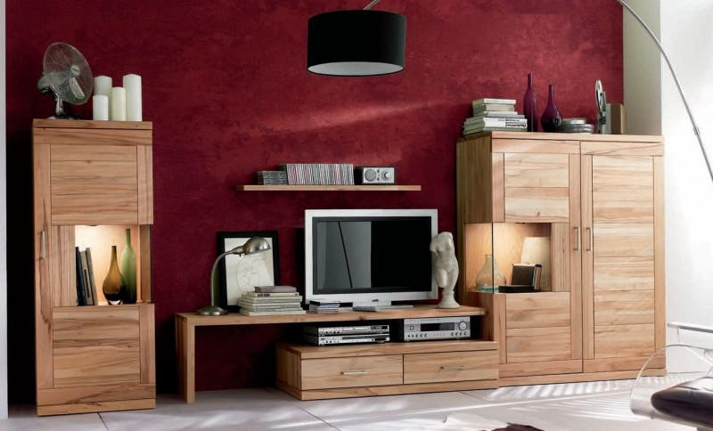 wohnwand wohnzimmerwand wohnzimmer tv lowboard highboard kernbuche massiv kaufen bei saku. Black Bedroom Furniture Sets. Home Design Ideas