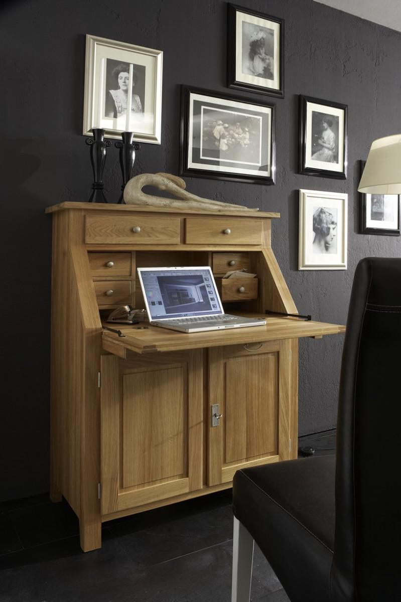 Klappsekretär Sekretär Büromöbel Büro Arbeitszimmer Eiche massiv ...