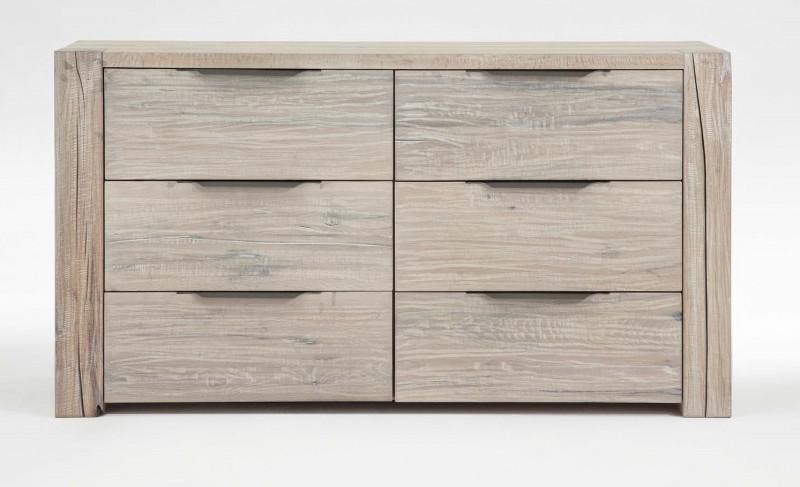 kommode sideboard balkeneiche eiche massiv white wash rustikal wuchsrisse kaufen bei saku. Black Bedroom Furniture Sets. Home Design Ideas