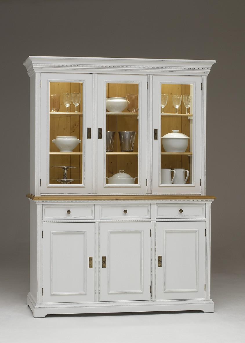vitrinenschrank vitrine schrank wohnzimmerschrank fichte massiv antik wei kaufen bei saku. Black Bedroom Furniture Sets. Home Design Ideas