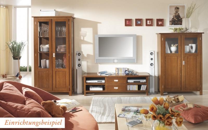 vitrinenschrank vitrine wohnzimmerschrank esszimmer buche massiv landhaus kaufen bei saku. Black Bedroom Furniture Sets. Home Design Ideas