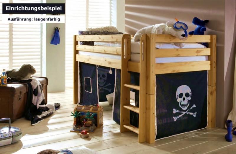 Kinderzimmer Mit Etagenbett : Hochbett bett kinderbett kinderzimmer etagenbett kiefer massiv